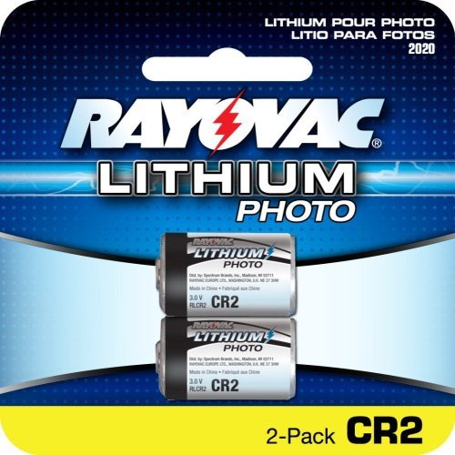 RAYOVAC RLCR2-1 3-Volt Lithium CR2 Photo Battery, Carded (Single)