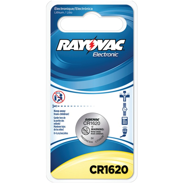 RAYOVAC KECR1620-1C 3-Volt Lithium Keyless Entry Battery (1 pk; CR1620 Size)
