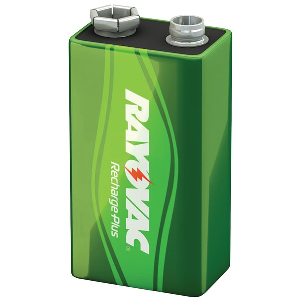 RAYOVAC PL1604-1 GENB Ready-to-Use NiMH Rechargeable Batteries (9V; 200mAh, Single)
