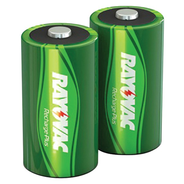 RAYOVAC PL713-2 GENB Ready-to-Use NiMH Rechargeable Batteries (D; 2 pk; 3,000mAh)