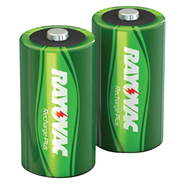 RAYOVAC PL714-2 GENB Ready-to-Use NiMH Rechargeable Batteries (C; 2 pk; 3,000mAh)