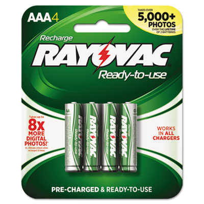 Recharge Plus NiMH Batteries, AAA, 4/Pack