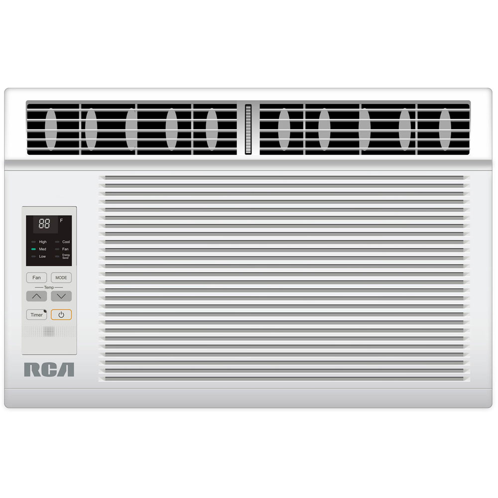 8,000 BTU 115V Window-Mounted Air Conditioner with Remote Control