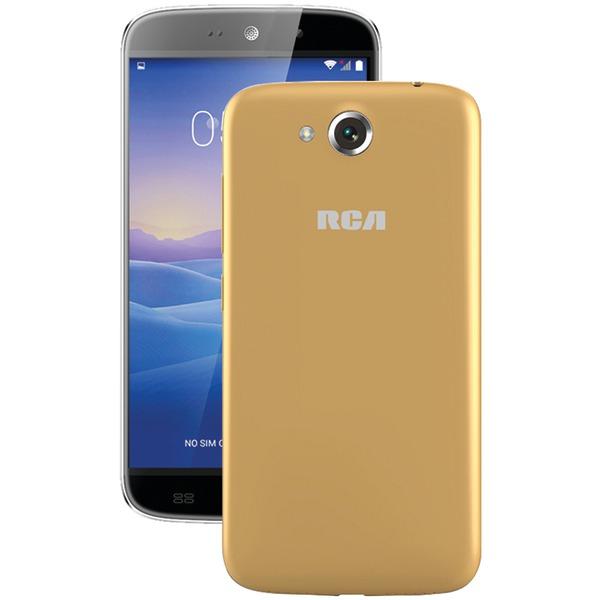 "RCA RLTP5567-CHAMPAGNE 5.5"" Android Quad-Core Smartphone (Beige/Champagne)"
