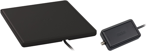 RCA ANT1450B/E Multidirectional Amplified Indoor Flat HDTV Antenna