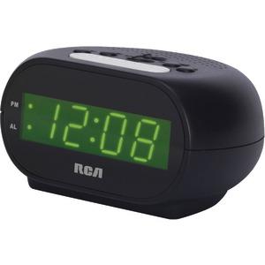 "RCA RCD20 ALARM CLOCK WITH .7"" GREEN DISPLAY"