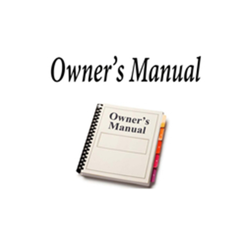 OWNERS MANUAL FOR RCI9000