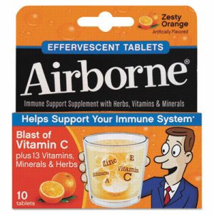 Immune Support Effervescent Tablet, Zesty Orange, 10/Box
