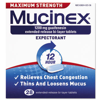 Max Strength Expectorant, 28 Tablets/Box