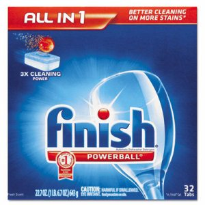 Powerball Dishwasher Tabs, Fresh Scent, 32/Box