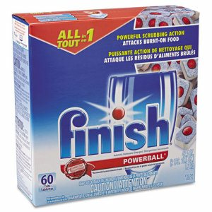 Powerball Dishwasher Tabs, Fresh Scent, 60 Tabs/Box, 4 Boxes/Carton