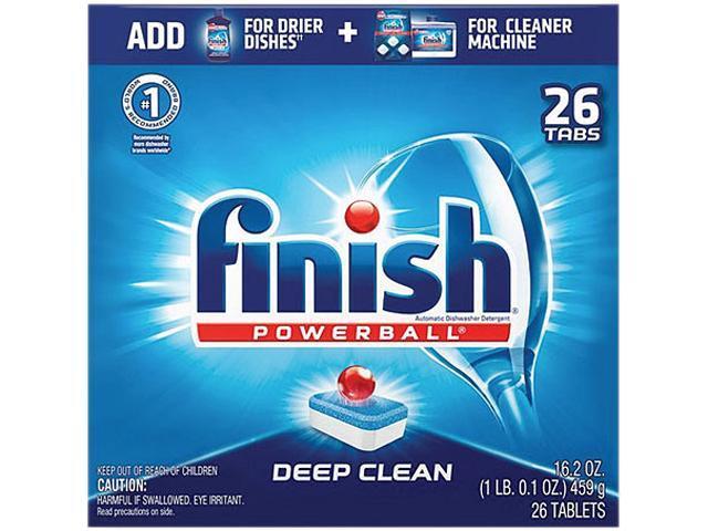 Powerball Dishwasher Tabs, Fresh Scent, 26/Box, 8 Boxes/Carton