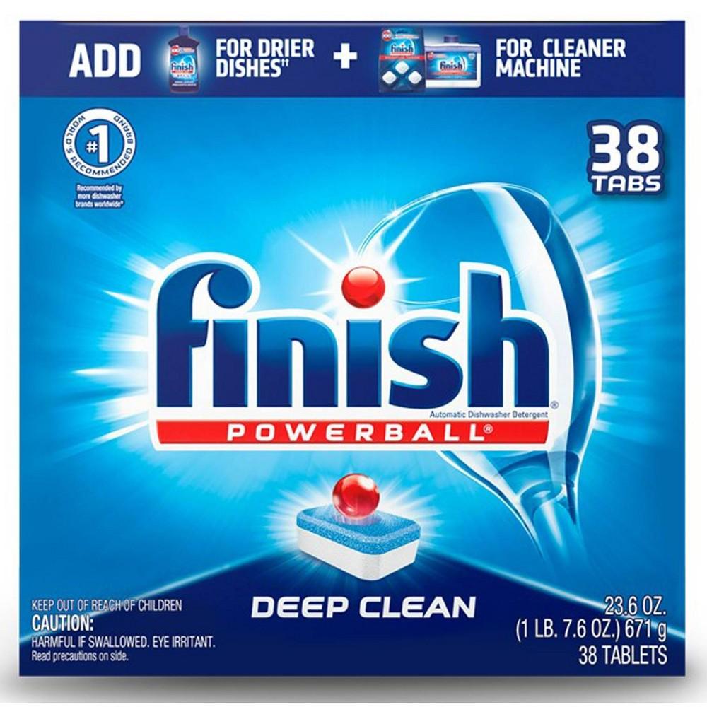 Powerball Dishwasher Tabs, Fresh Scent, 38/Box, 8 Boxes/Carton