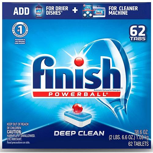 Powerball Dishwasher Tabs, Fresh Scent, 62/Box, 4 Boxes/Carton