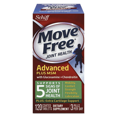 Move Free Advanced Plus MSM Joint Health Tablet, 120 Count