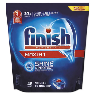 Powerball Max in 1 Shine and Protect Dishwasher Tabs, Regular Scent, 48/Pk