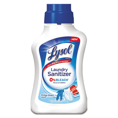 Laundry Sanitizer, Liquid, Crisp Linen, 41 oz, 6/Carton