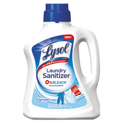 Laundry Sanitizer, Liquid, Crisp Linen, 90 oz, 4/Carton