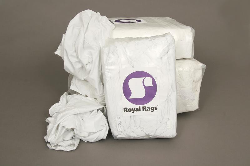 4# POLY BAG WHITE KNIT WIPERS