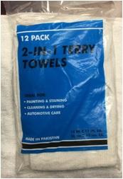 500-12 12PK 2-N-1 TERRY TOWEL
