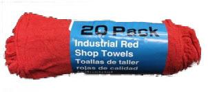 500-00 20 PK RED SHOP TOWELS