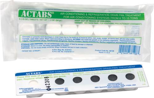 ACTABS� AIR CONDITIONING DRAIN PAN TREATMENT, 6 TABLETS
