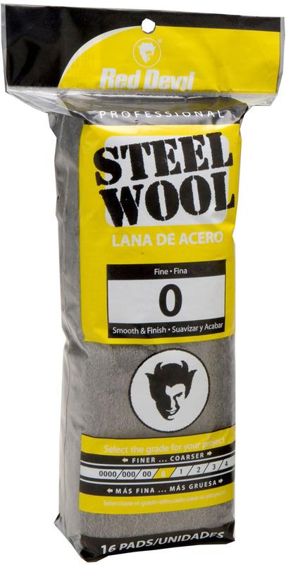 8 Pads Red Devil 0320 Steel Wool 0000 Super Fine