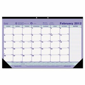 Monthly Desk Pad Calendar, 17 3/4 x 10 7/8, 2017