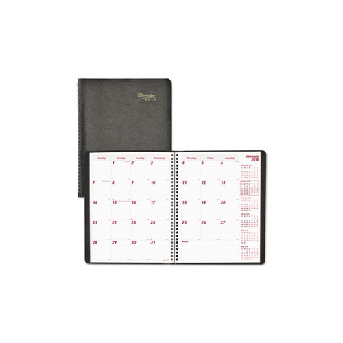 Essential Collection 14-Month Ruled Planner, 11 x 8 1/2, Black, 2017