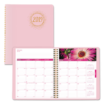 Pink Ribbon Monthly Planner, 9 1/4 x 7 1/2, Pink