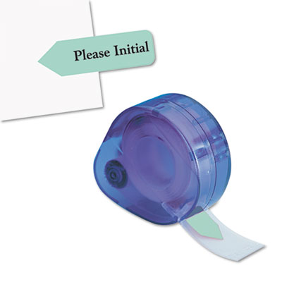 "Arrow Message Page Flags in Dispenser, ""Please Initial"", Mint, 120/Dispenser"