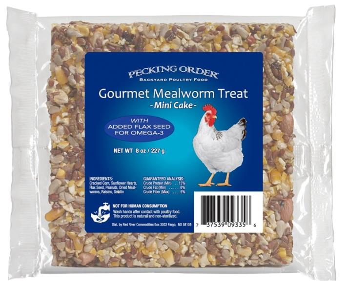 TREAT CHICKEN MEALWORM 8OZ