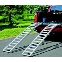Cequent Highland 1123100 Arched Center-Fold Ramp, 1500 lb, 90 in L, Aluminum