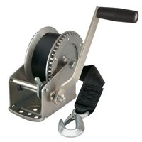 Reesee Hand Winch 20 ft Strap, 1500 lb, 4:1:1 Gear