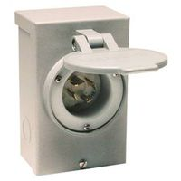 Reliance PB20 Outdoor Power Inlet Box, Gray