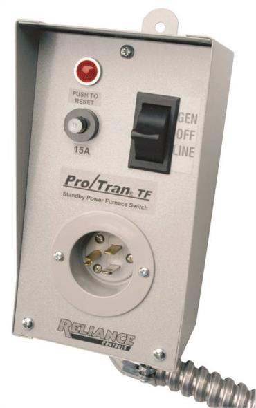Reliance Controls TF151W Generator Transfer Switches, 1-Circuit, 15 Amp