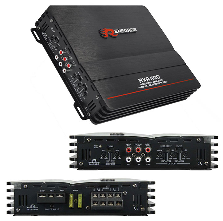 Renegade 4x150 4 Channel Amp