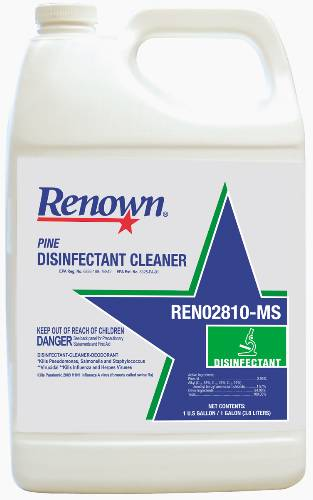RENOWN� DISINFECTANT CLEANER WITH A PINE SCENT, 1 GALLON PER CONTAINER