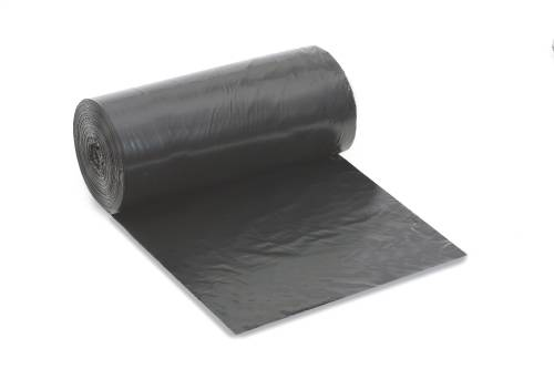 RENOWN� REPRO TRASH BAGS, 33 GALLONS, 2 MIL, 33X39 IN., BLACK, 20 BAGS PER ROLL