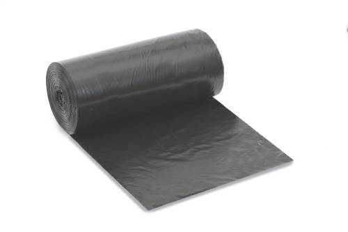 RENOWN� CORELESS TRASH CAN LINERS, BLACK, 45 GALLONS, 40X46 IN., 1.5MIL, 10 LINERS PER ROLL