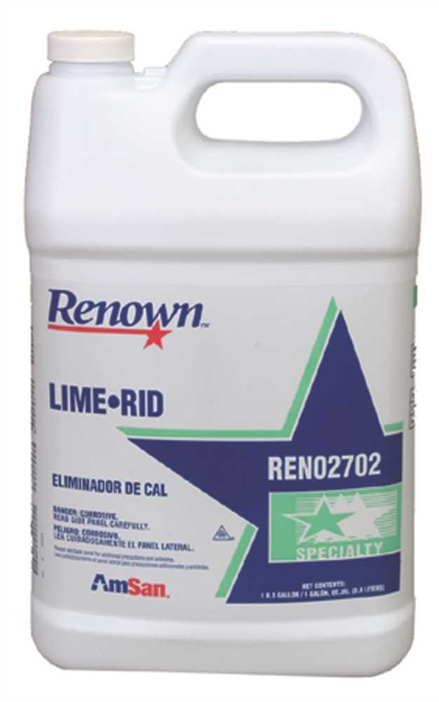 RENOWN� LIME-RID NON-FOAMING DESCALER, 1 QUART