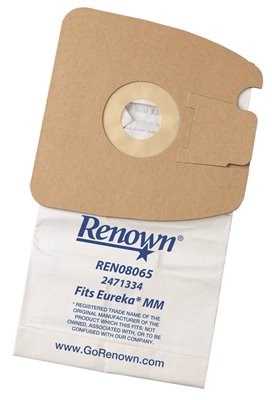 RENOWN� VACUUM BAG FOR EUREKA MM, 3 BAGS/PACK. EQUIVALENT TO 60295, 60296, 60297.