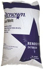 RENOWN� CALCIUM CHLORIDE ICE MELT, 55 LB. BAG