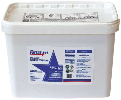 RENOWN� DRY CARPET CLEANING COMPOUND 20 LB. BUCKET