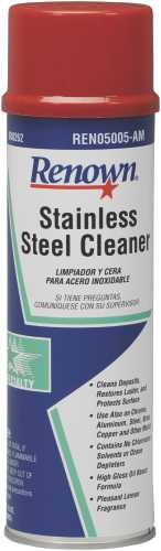 RENOWN STAINLESS STEEL CLEANER - OIL BASED AEROSOL  15OZ CAN