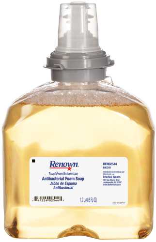 RENOWN� ANTIBACTERIAL FOAM HAND SOAP, TOUCH-FREE, 1,200ML
