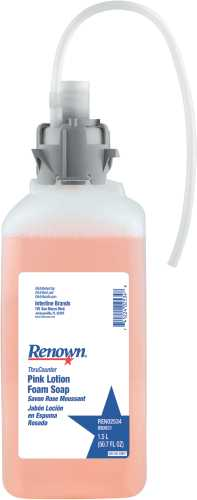RENOWN� COUNTER-MOUNTED FOAM HAND SOAP REFILL, PINK, 1,500 ML
