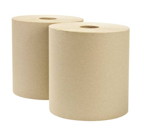 RENOWN� HARD ROLL TOWELS, NATURAL, 8 IN. X 800 FT.