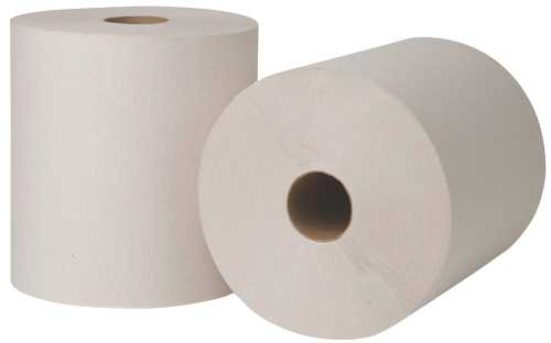 RENOWN� GREEN SEAL�-CERTIFIED HARD ROLL TOWELS, WHITE, 8 IN. X 800 FT., 6 ROLLS PER CASE