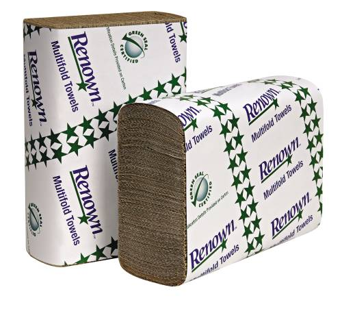 "RENOWN� C-FOLD PAPER TOWELS, NATURAL, 10 1/8"" X 13"", 2,400 SHEETS PER CASE"